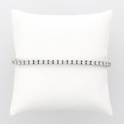 Bracelet rivière de diamants serti 4 griffes caratage total 7,15 carats-or 18 carats