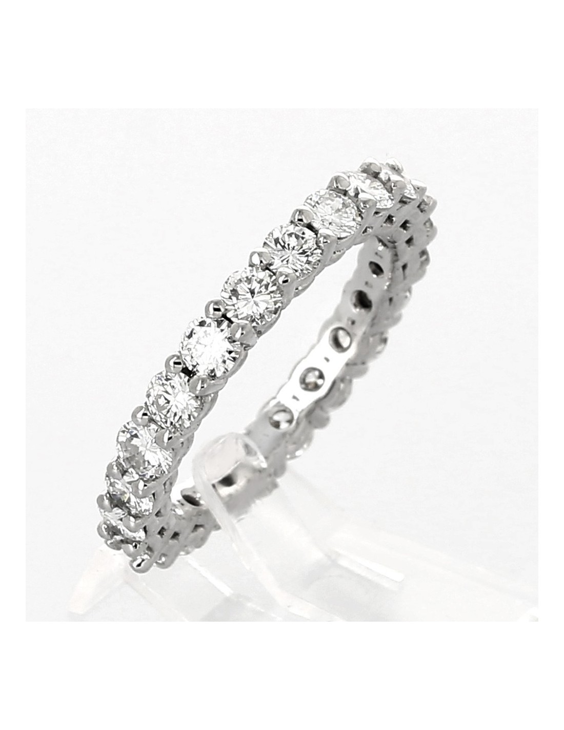 Fabuleux Alliance de mariage femme en or 18 carats et diamants tour complet  WK21