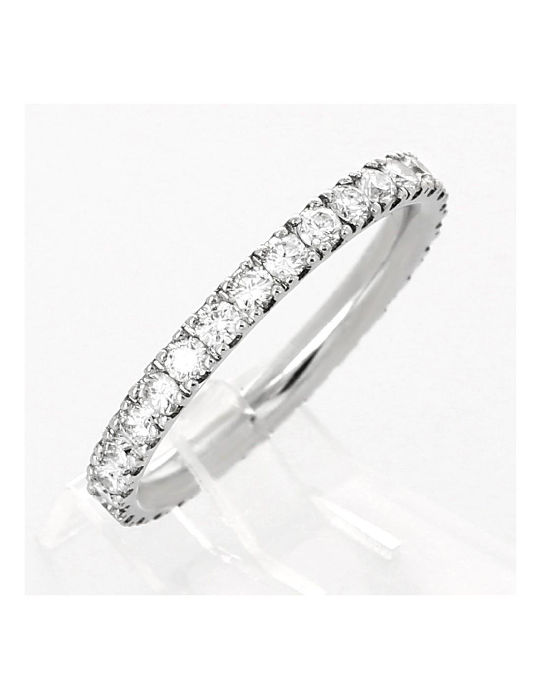Souvent Alliance de mariage femme or 18 carats tour complet serti mini  JC99