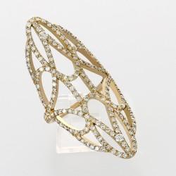 Bague marquise dentelle contemporaine montée en or 18 carats sertie de 188 diamants pour un poids total de 2,05 carats