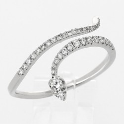 Bague serpent diamants 0,32ct - or 18 carats