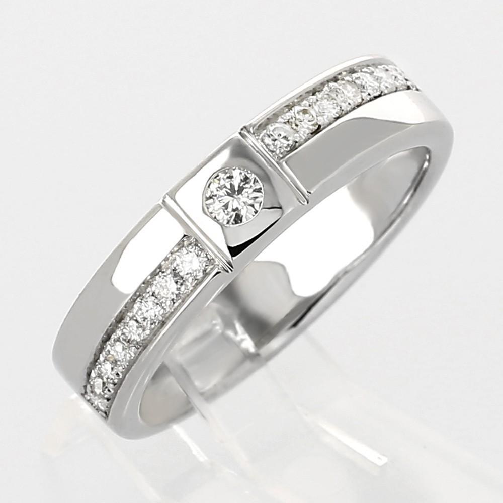 Bien connu Bague en or 18 carats style solitaire alliance moderne serti clos  AC94