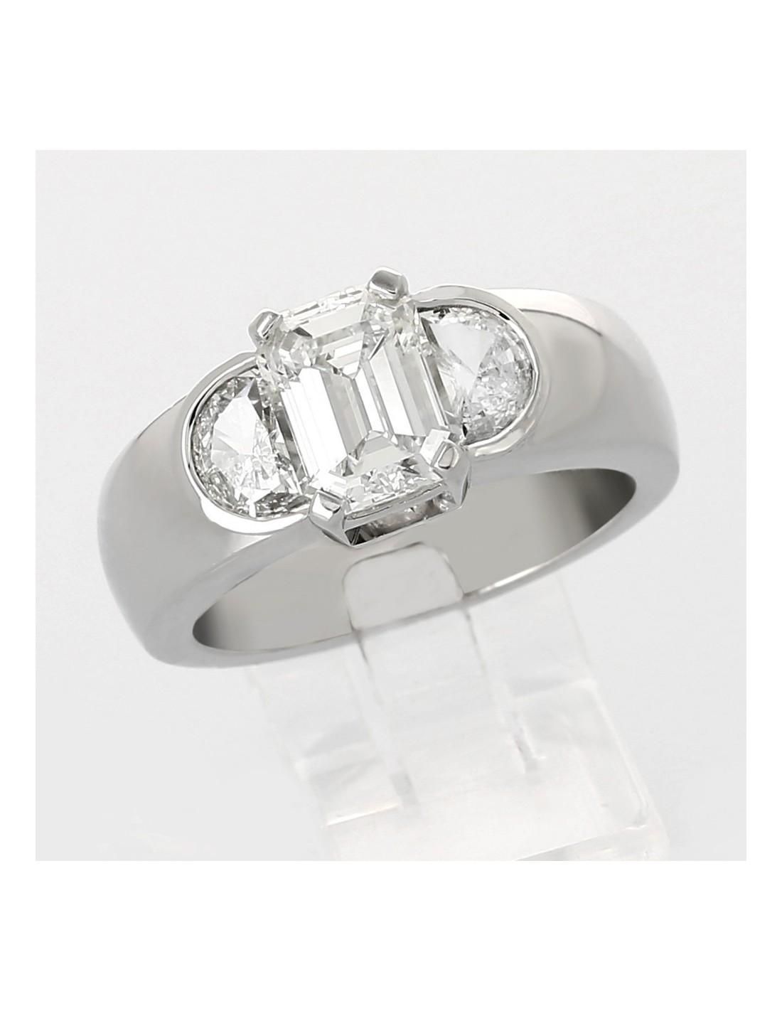 bague diamant taille emeraude kf78 jornalagora. Black Bedroom Furniture Sets. Home Design Ideas