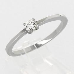 Solitaire en or 18 carats diamant rond serti 4 griffes