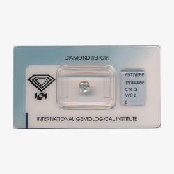 Diamant Asscher 0,76ct E - VVS2