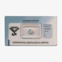 Diamant Rond 1,01ct H - SI1