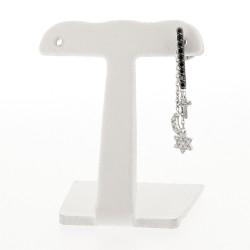 Mono boucle d'oreille  barette diamants noirs sur or noir avec pampilles amovibles en diamants blancs sur or blanc 18 carats