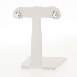 Puces d'oreilles en or 18 carats, diamants sertis 3 griffes
