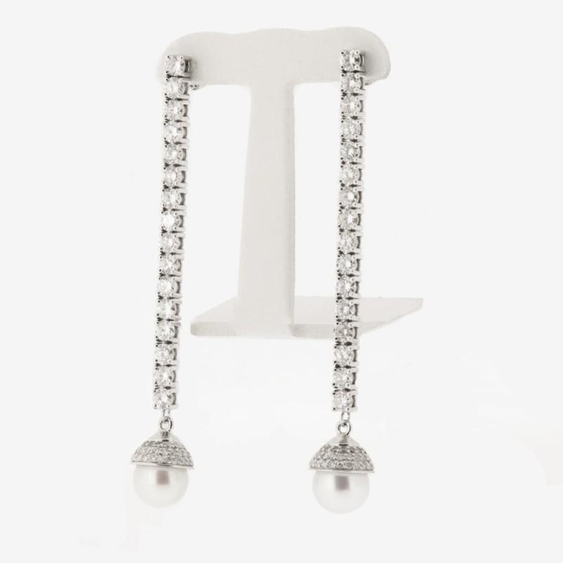 Boucle d'oreille pendentif perle