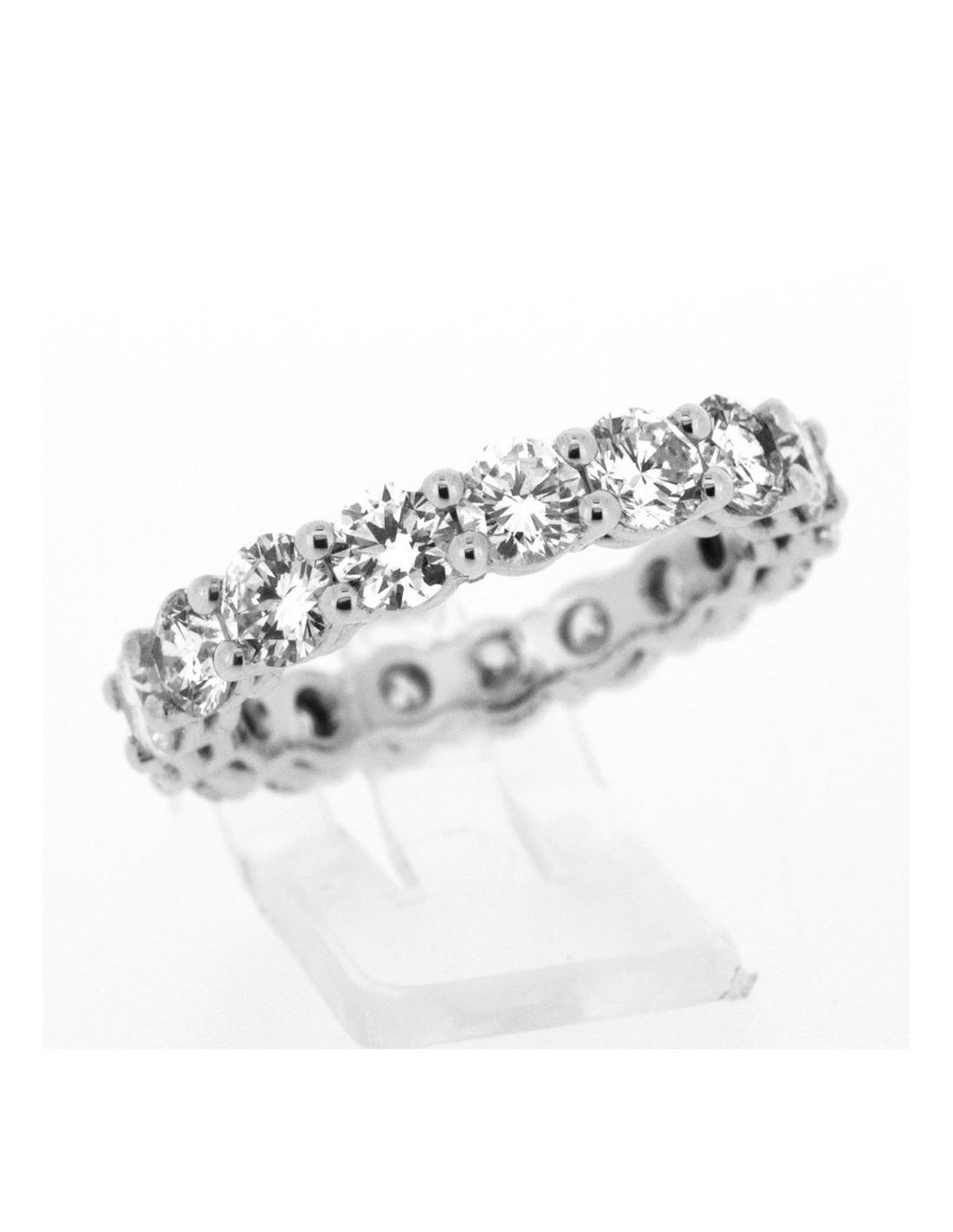 Exceptionnel Alliance femme diamants serti griffes en or 18 carats DF18