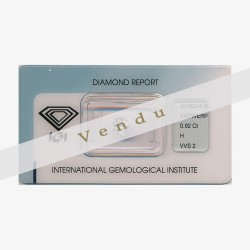Diamant Rond 0,92ct H - VVS2