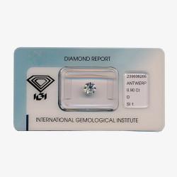 Diamant Rond de 0,90 ct D - SI1