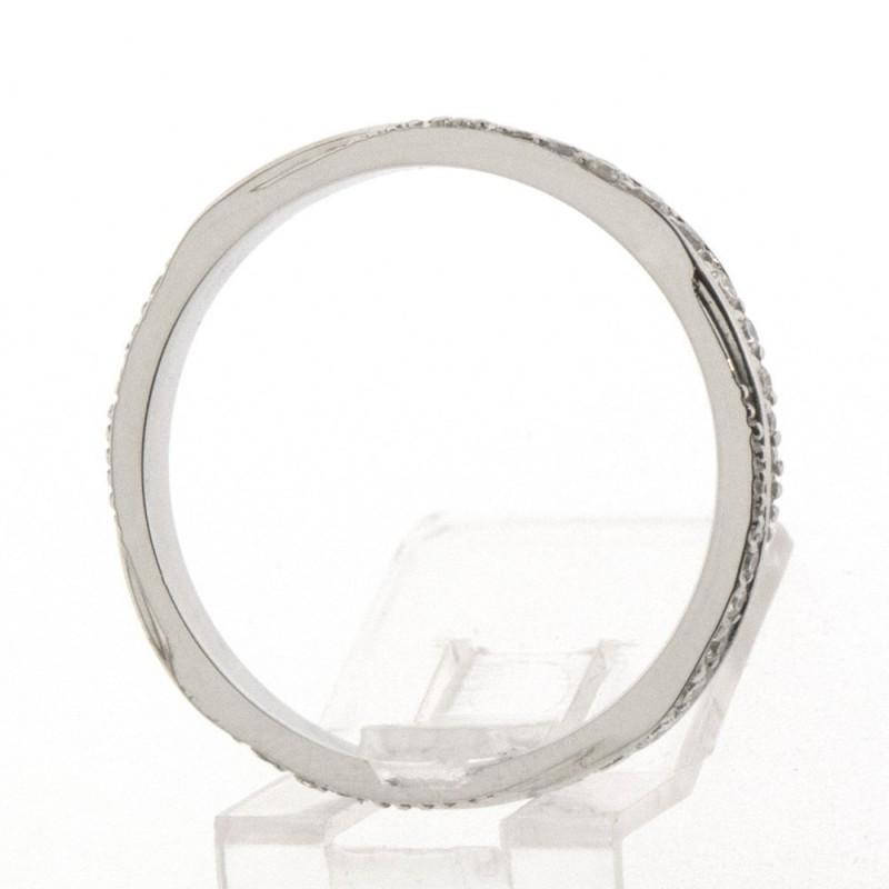 Bague de fiançailles torsadée en diamant - Or 18 carats