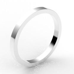 Alliance carré 2 mm - or 18 carats