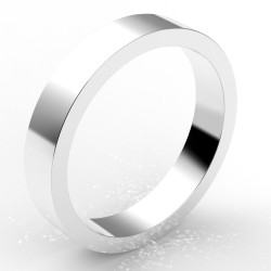Alliance homme carré 4 mm - or 18 carats