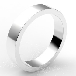Alliance homme carré 4,5 mm - or 18 carats