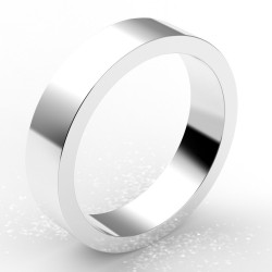 Alliance homme carré 5 mm - or 18 carats