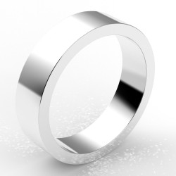 Alliance homme carré 5,5 mm - or 18 carats