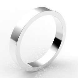 Alliance homme carré 3,5 mm - or 18 carats