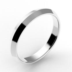 Alliance homme biseautée or 18 carats 3,5 mm