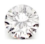 image d'un diamant rond vue de face