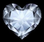 Diamant taillé forme coeur