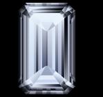 Diamant taillé forme émeraude