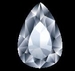 Diamant taillé forme poire