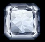 Diamant taillé forme radiant