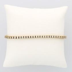 Bracelet rivière femme pavé de 63 diamants (3,88 carats) fermeture avec cliquet et huits de sécuité en or 18 carats