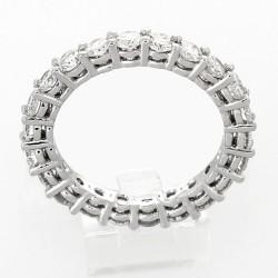 Alliance mariage tour complet 2 griffes diamants 2,20 carats-or 18 carats
