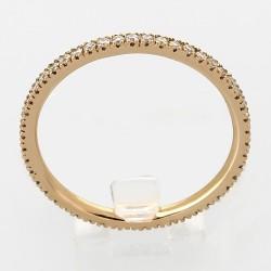Alliance mariage tour complet serti mini-griffes diamants 0,40 carat-or 18 carats