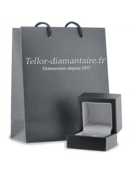 Alliance mariage tour complet serti clos diamants 0,22 carat-or 18 carats