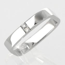 Alliance carrée diamants 0,07 carat-or 18 carats