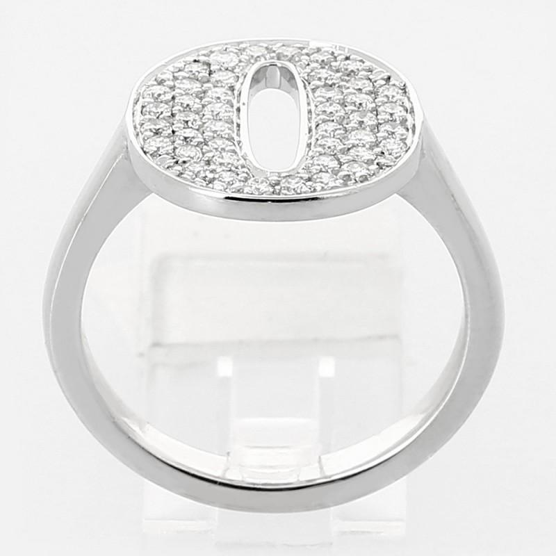Bague femme pavage diamant -  0,47ct - or 18 carats