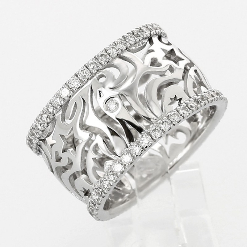 bague diamant plat