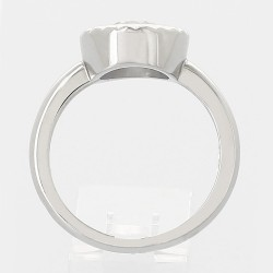 Solitaire entourage diamant rond 1,00 ct - or 18 carats