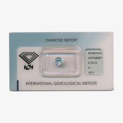 Diamant Rond 0,70ct H - VS2
