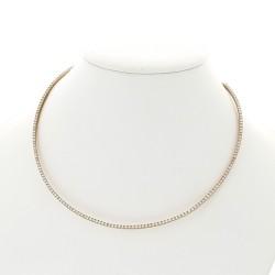 Collier ras de cou rigide serti mini griffes diamants 3,88 carats-or 18 carats