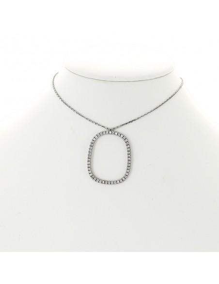 Collier pendentif micro sertis diamants 0,57 carat-or 18 carats