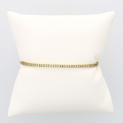 Bracelet femme serti de 49 diamants en mini-griffes (0,80 carat) finition sur chaine en or 18 carats