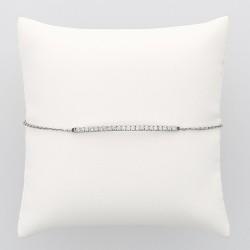 Bracelet femme barrette serti de 22 diamants en grains pour un caratage total de 0,34 carat en or 18 carats