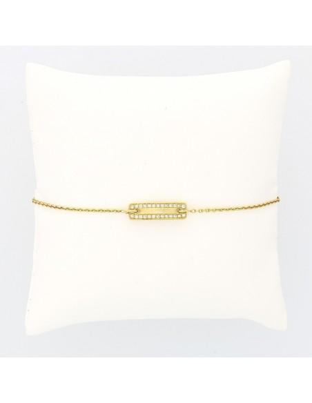Bracelet  identité enfant diamants 0,14 carat or 18 carats