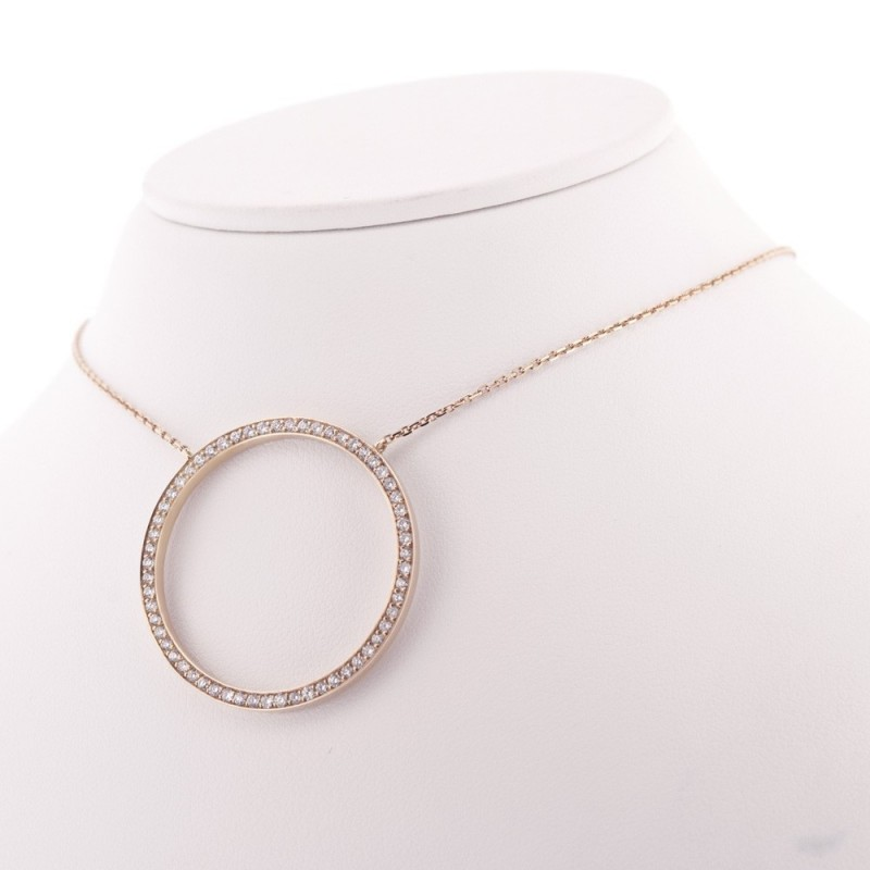 collier rond or femme
