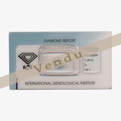 Diamant Rond 1,28ct G - VS1