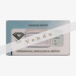 Diamant Rond 0,38ct G -SI1