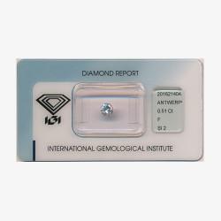 Diamant Rond 0,51ct F - SI2