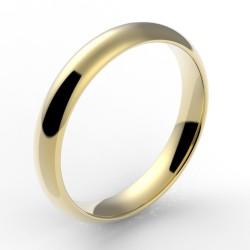Alliance demi jonc confort 3,5 mm - or 18 carats