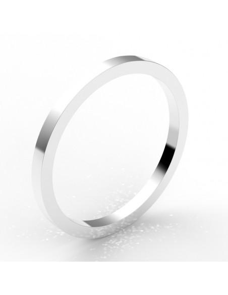 Alliance carré 1,5 mm - or 18 carats