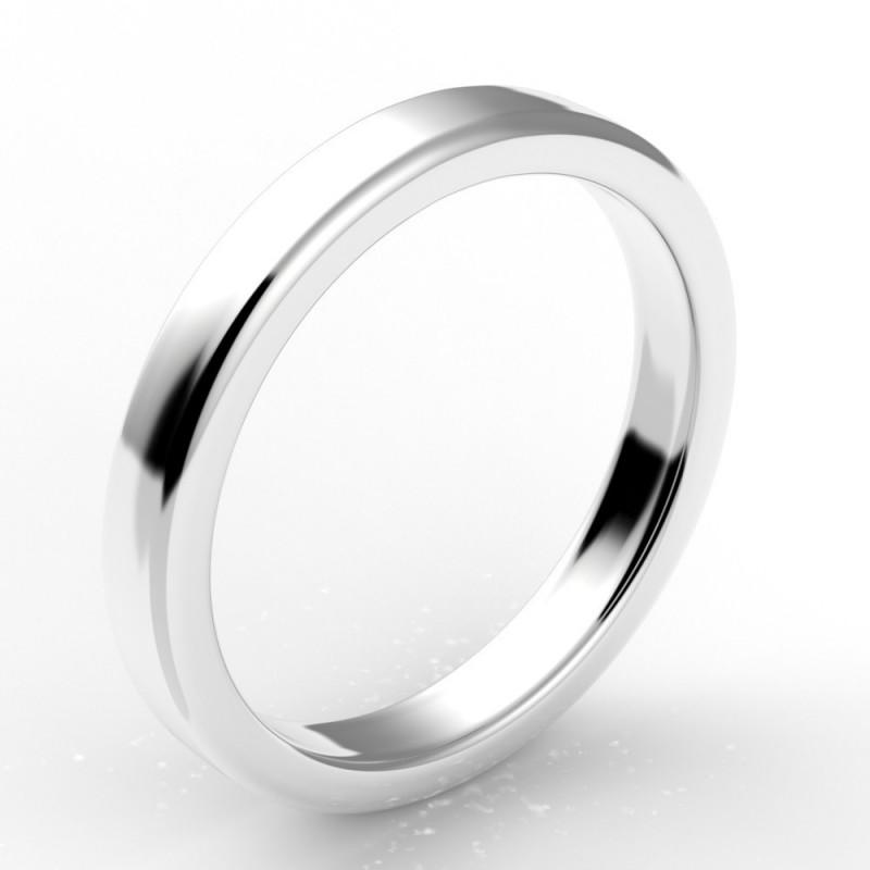 Alliance carré bords arrondis 3 mm - or 18 carats